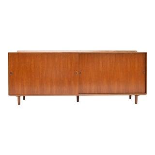 1950s Danish Modern Finn Juhl for Baker Walnut Sideboard/Credenza For Sale