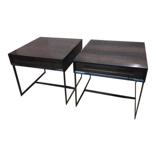 Modern Mitchell Gold + Bob Williams Allure Drawer Side Tables - a Pair For Sale