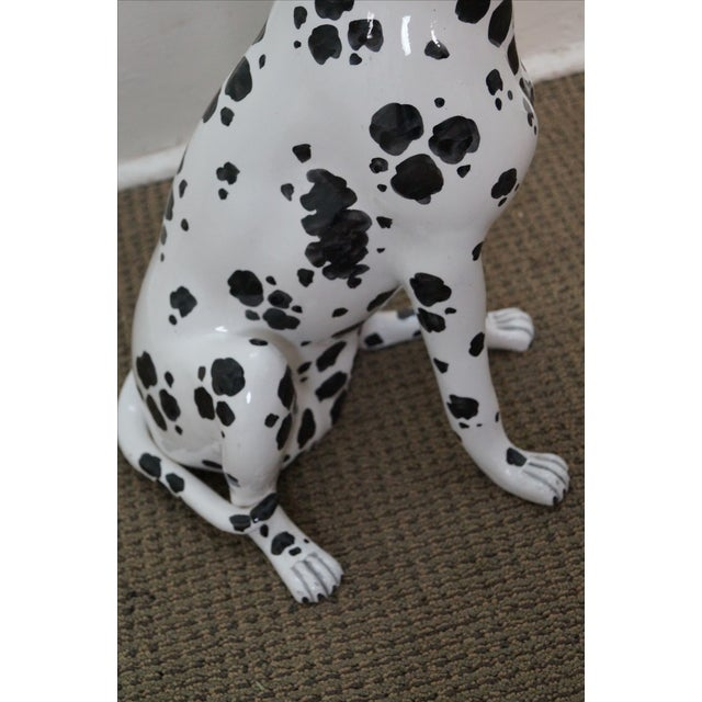 Vintage Italian Pottery Dalmatian Dog Statue For Sale In Philadelphia - Image 6 of 10