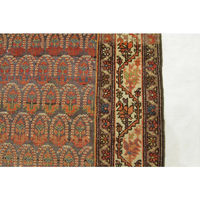 White 1920's Twin Antique Persian Rug Malayer Design Circa 1920's - 3′5″ × 19′8″ For Sale - Image 8 of 11