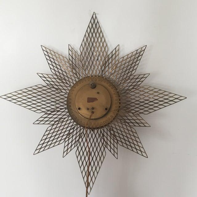 Brass Starburst Wall Clock - Image 7 of 7