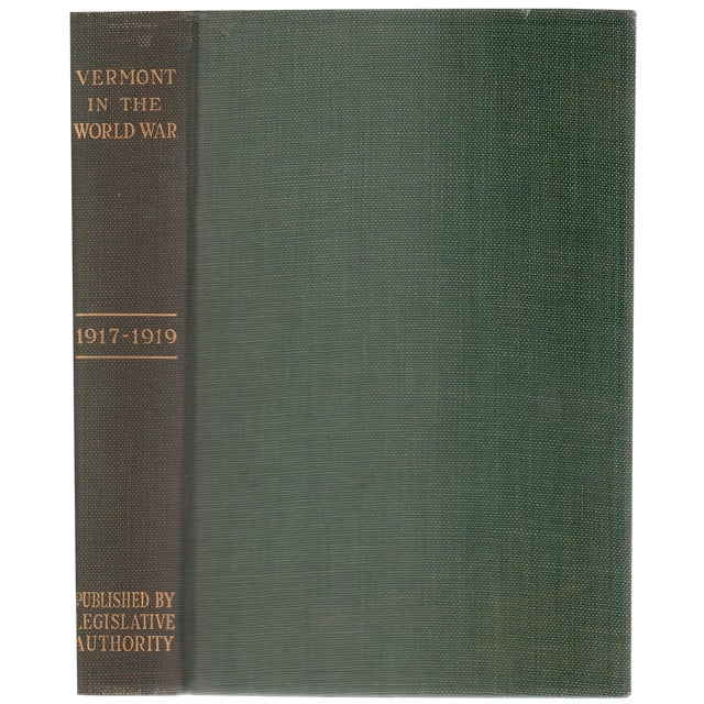 """1928 """"Vermont in the World War 1917-1919"""" Collectible Book For Sale"""