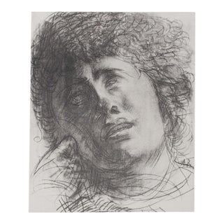 1959 Lithograph, Study for the Head by Auguste Rodin
