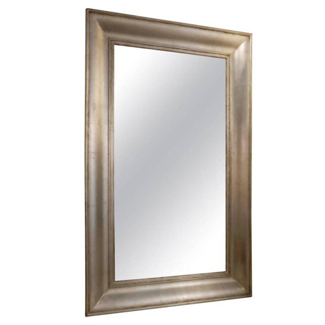 Brown 19th Century French Silver Mirror For Sale - Image 8 of 8