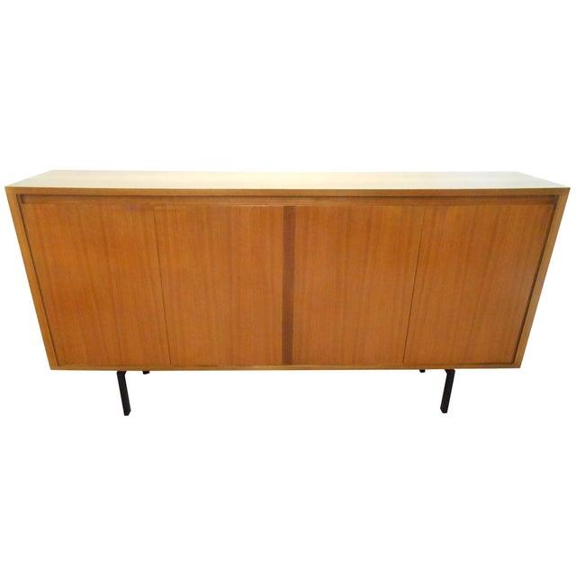 Danish Modern Walnut Tall Credenza Sideboard - Image 1 of 10
