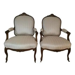Stoheim & Roman Napoleon Ill French Armchairs- a pair