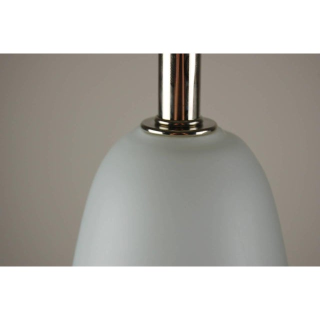 Vintage Murano Glass Capsule Table Lamps in Yellow/White For Sale - Image 9 of 11