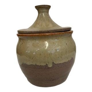 Studio Pottery Lidded Ceramic Jar For Sale