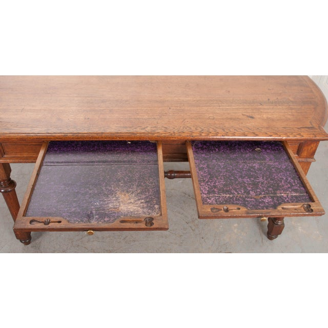 19th Century French Oak Sewing Table For Sale - Image 10 of 13