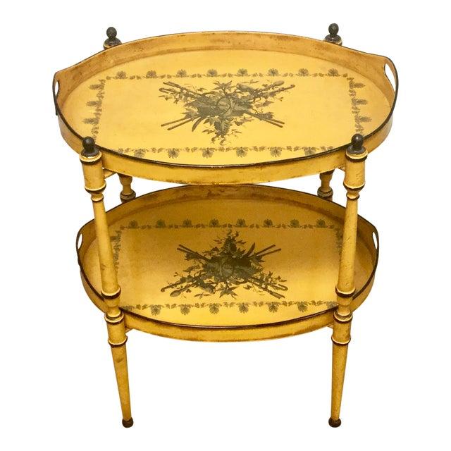 20th Century Italian Yellow Tole Tray Table - Image 1 of 12