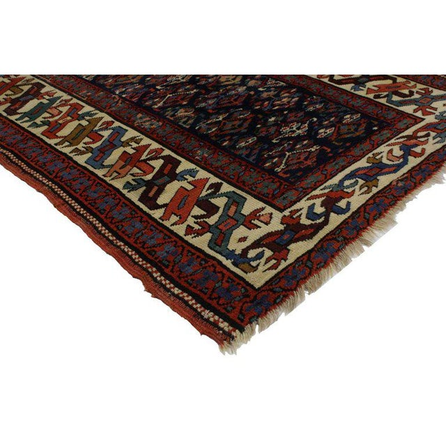 19th Century Persian Kazak Tribal Hallway Runner - 3′4″ × 8′10″ For Sale - Image 4 of 9