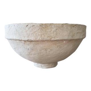Vintage French Papier Mache Bowl For Sale