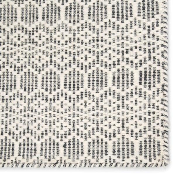 Contemporary Jaipur Living Calliope Handmade Trellis White/ Gray Area Rug - 5′ × 8′ For Sale - Image 3 of 6