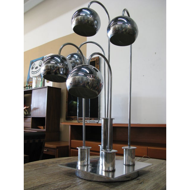 Robert Sonneman Chrome Ball Waterfall Lamp - Image 11 of 11