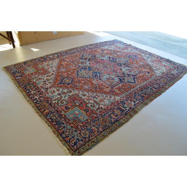 """Antique Persian Heriz Rug - 8'1"""" x 11'2"""" - Image 2 of 7"""