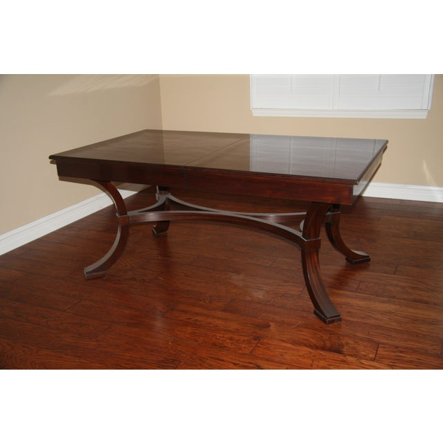 Williams-Sonoma Home Solid Mahogany Dining Table For Sale - Image 5 of 10