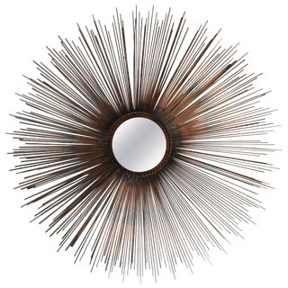 Mid-Century Modern Style Sunburst Mirror For Sale