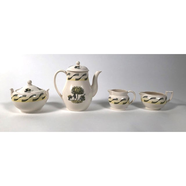 Neoclassical Eric Ravilious Garden Series Coffee Service for Wedgwood - 4 Pc. Set For Sale - Image 3 of 13