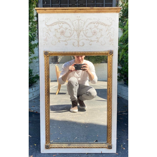 1950s Palladio Hollywood Regency Trumeau Mirror For Sale - Image 5 of 5