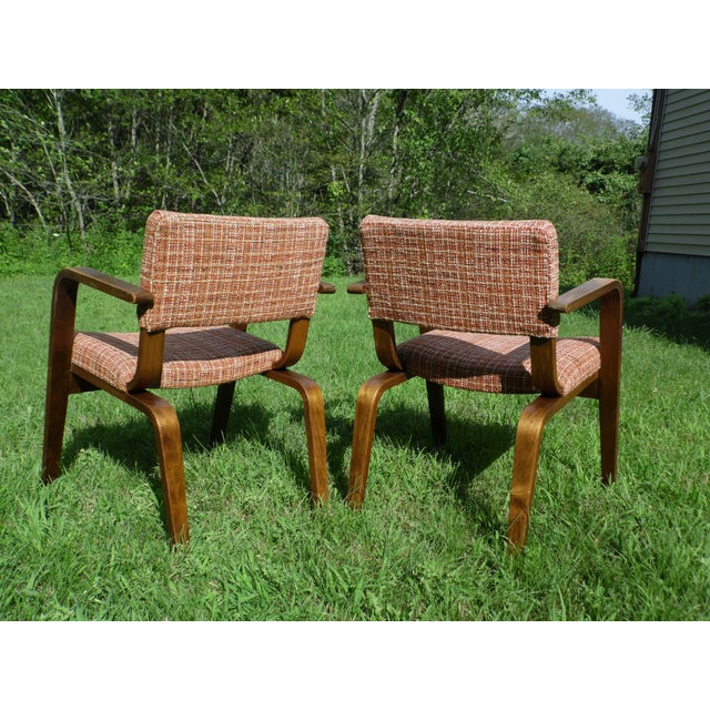 vintage 1950s mid century modern thonet bent wood chairs a pair