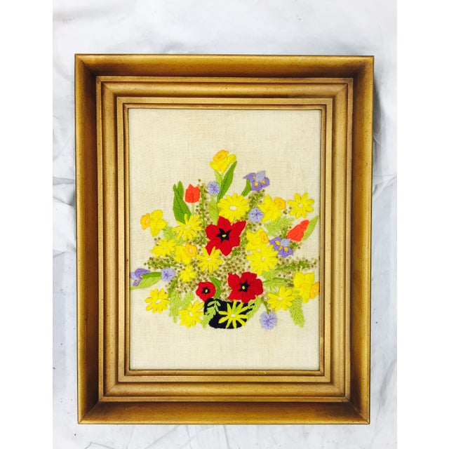 Vintage Floral Needlepoint Panels- A Pair - Image 6 of 7