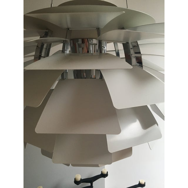 "White PH Artichoke Lamp, Designed by Poul Henningsen for Louis Poulsen Lighting X-Large: H 28.5"" Diameter 33.25"" Cord L..."