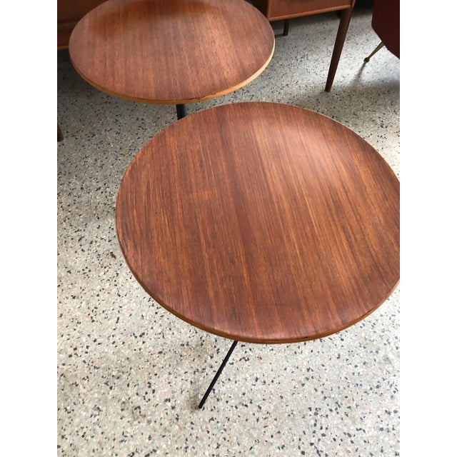 1950s 1950s Mid-Century Modern Osvaldo Borsani for Tecno Occasional Tables - a Pair For Sale - Image 5 of 9