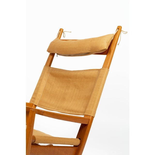 Wood Keyhole Rocking Chair by Hans Wegner For Sale - Image 7 of 13