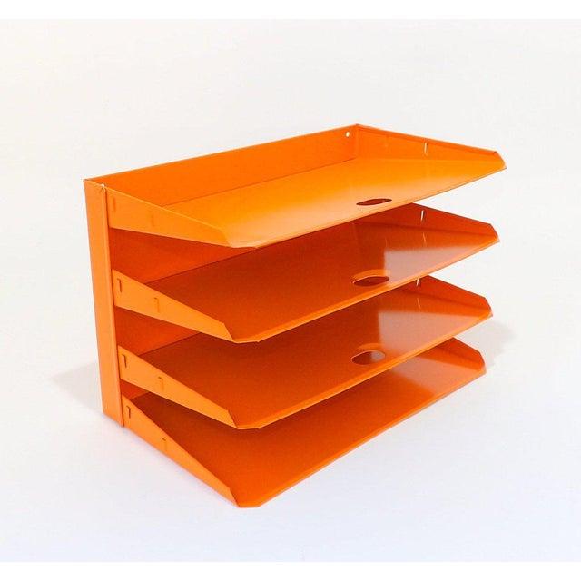 Orange Metal Desk Organizer For Sale In Sacramento - Image 6 of 7
