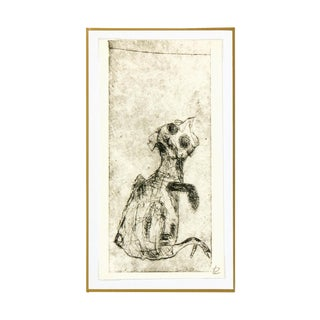 French Fine Art Etching - Le Poussin For Sale