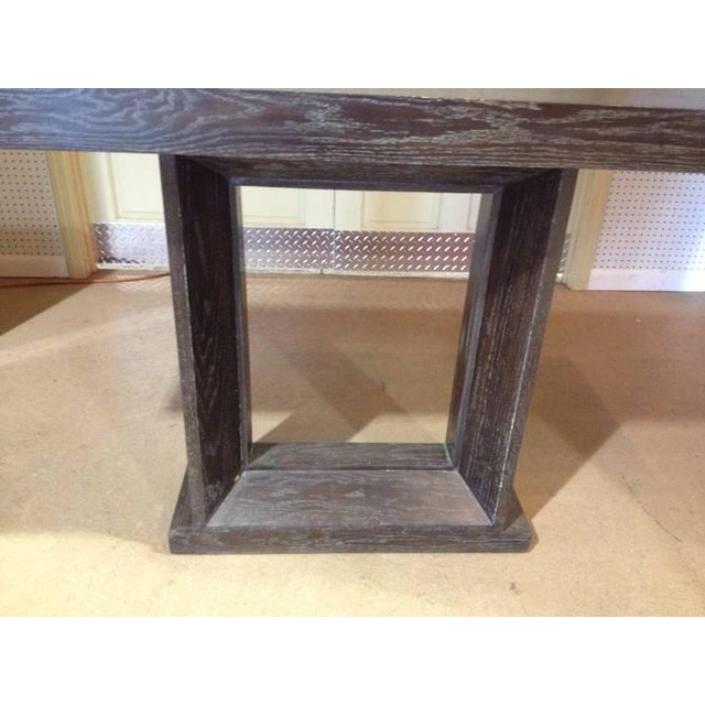 Modern Cerused Oak Console Table For Sale - Image 3 of 5