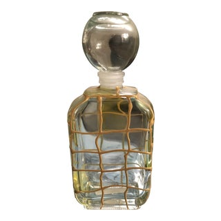 Vintage Italian Mid Century Modern/Hollywood Regency Glass Perfume Bottle For Sale
