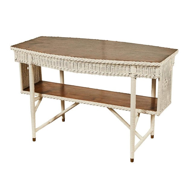1920s White Wicker Table For Sale In Los Angeles - Image 6 of 6