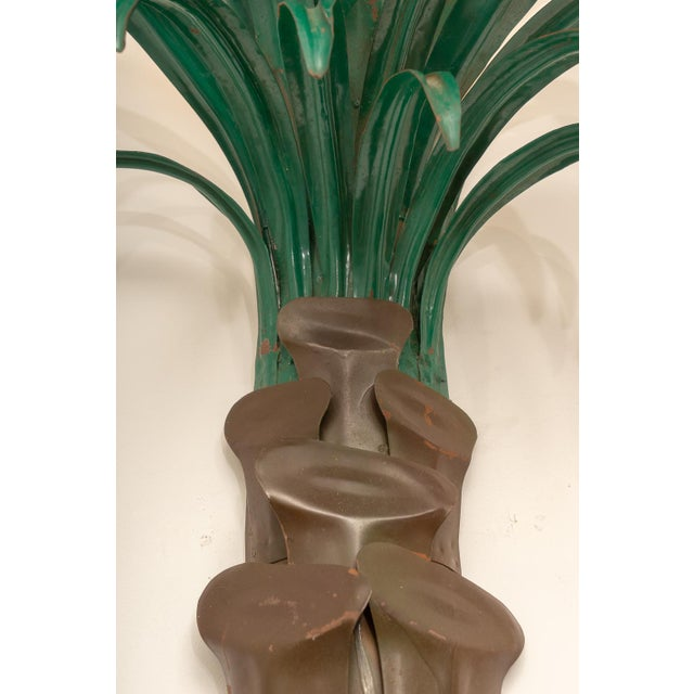 1970s Custom Palm Tree Form Wall Torcheres 9 Ft High - a Pair For Sale - Image 11 of 12