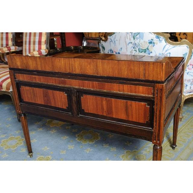 Walnut Louis XVI Walnut Valuables Cabinet Desk For Sale - Image 7 of 11