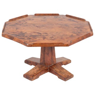 English Arts & Crafts Yew Wood Lazy Susan For Sale
