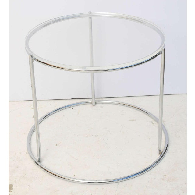 Silver Round Polished Chrome Nesting Tables - Set of 3 For Sale - Image 8 of 13