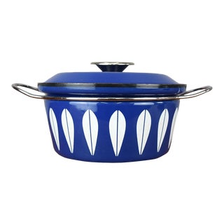 Mid-Century Cathrineholm 'Lotus' Enamel Pot in Royal Blue