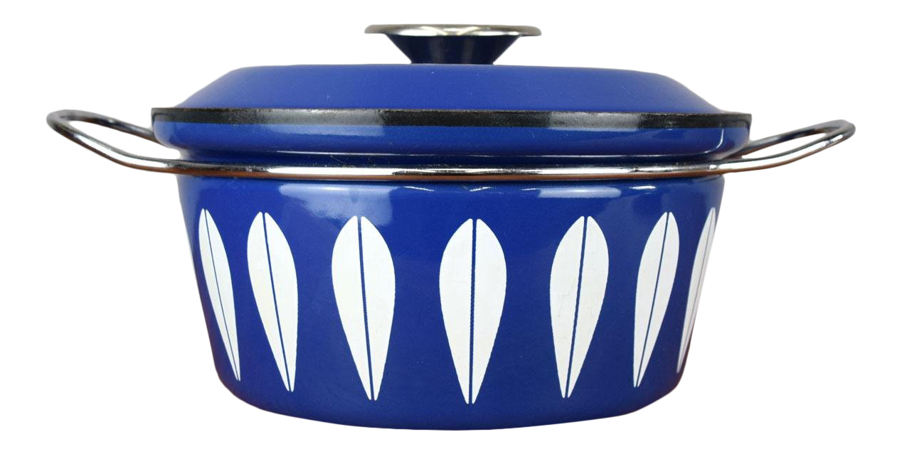 Mid-Century Cathrineholm u0027Lotusu0027 Enamel Pot in Royal Blue  sc 1 st  Chairish & Vintage u0026 Used Scandinavian Tableware and Barware | Chairish