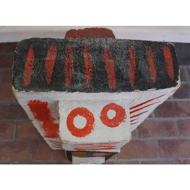 Abstract Painted Wood Sculpture by John Haley For Sale In Palm Springs - Image 6 of 8