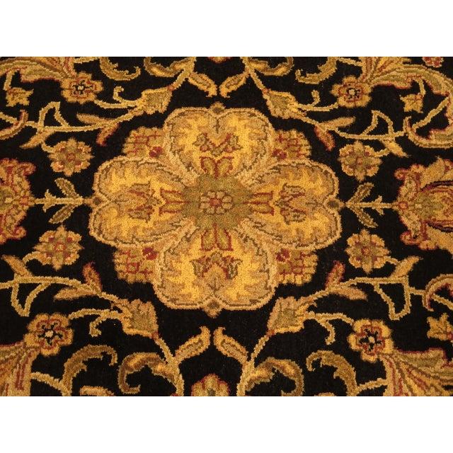 Textile Vintage Black & Gold Wool Rug - 6' X 9' For Sale - Image 7 of 11