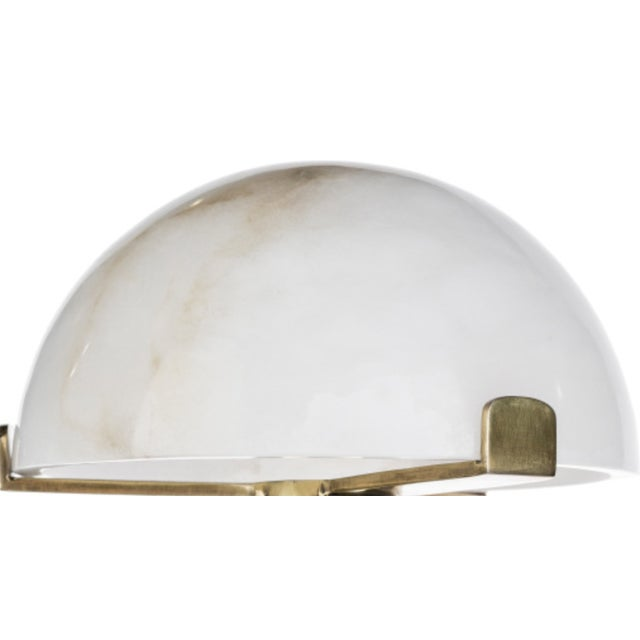 Brass and Stone Shade Table Lamp For Sale - Image 4 of 4