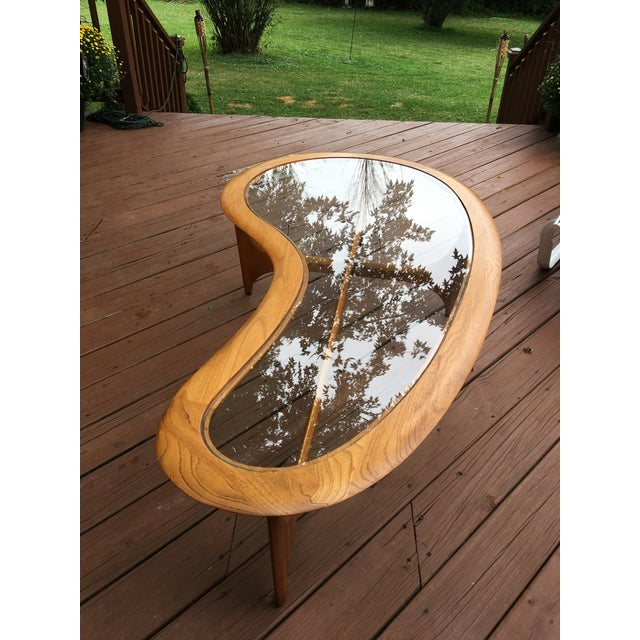 Mid Century Vintage Lane Kidney Shaped Coffee Table For Sale - Image 13 of 13
