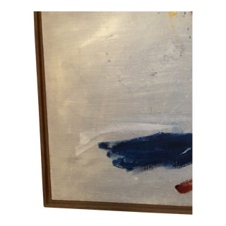 1980s Mid Century Modern Abstract Signed Painting For Sale