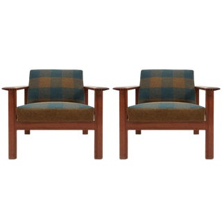 """1960s Gerhard Berg """"Kubus"""" Lounge Chairs- A Pair For Sale"""