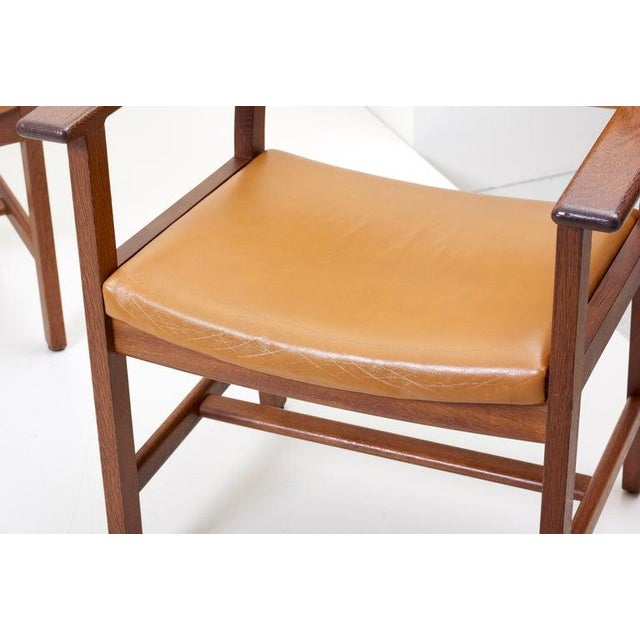 1960s Set of Ten Ge 1960s Armchairs in Leather by Hans Wegner for by Getama, Denmark For Sale - Image 5 of 13