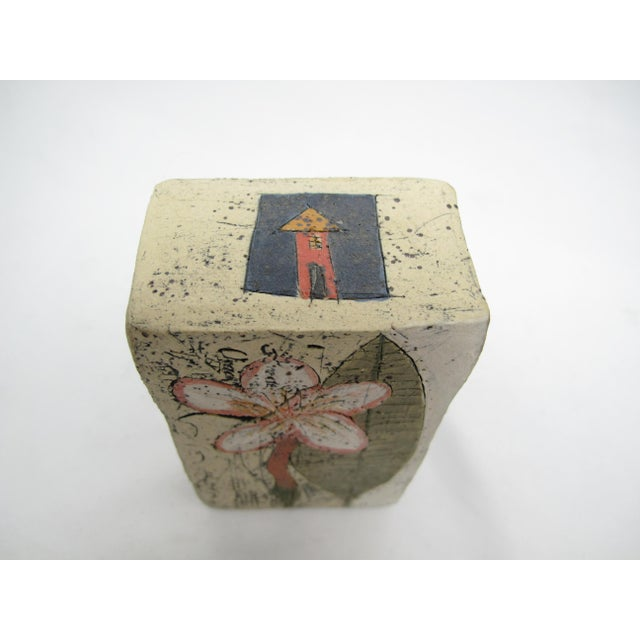 Mid-Century Modern Betsy Wolfston Pottery House Blessing Box For Sale - Image 3 of 7