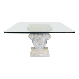 1970s Faux Stone Table For Sale