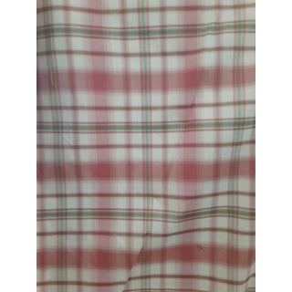 Pindler and Pindler Designer Silk Infused Woven Raspberry Pink and Light Green on Cream Woven Plaid - 10 Yards