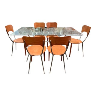 Danish Modern Calligaris Dining Table & Chairs - 7 Pieces For Sale